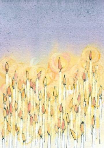 Inbjudan till minnesgudstjänst - Ljus