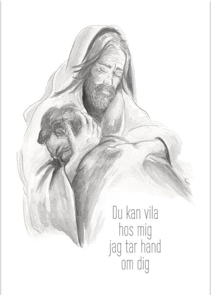 Poster - Du kan vila hos mig - Fina Kinnander - A3