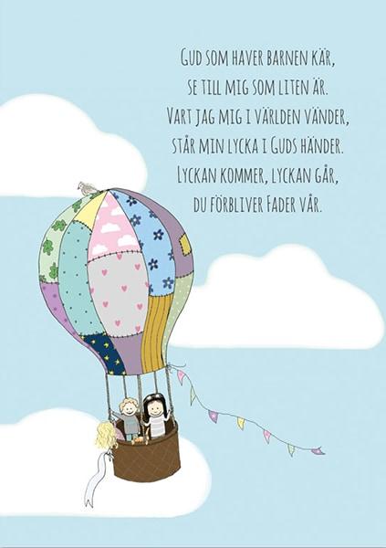 Poster - Gud som haver - Luftballong - A3