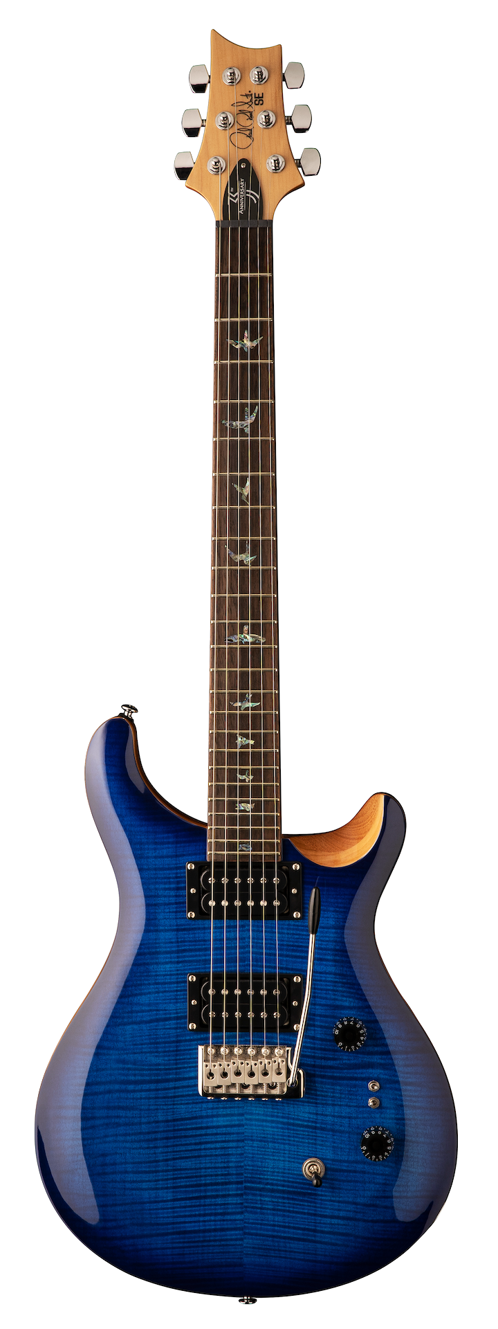 PRS SE Custom 24, 35th Anniversary, Faded Blue Burst