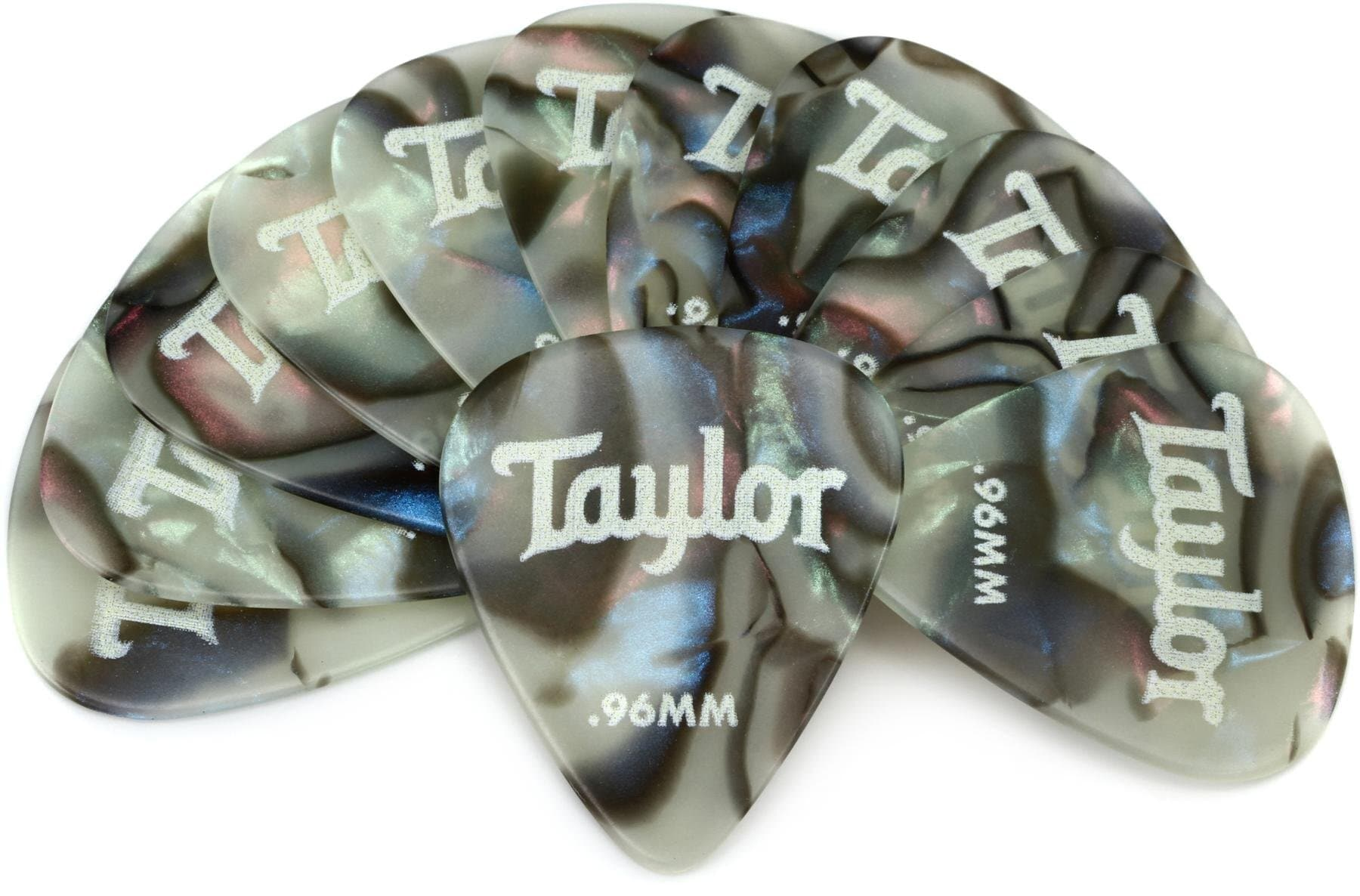Taylor Celluloid 351 Picks, Abalone 0.96, 12-pack