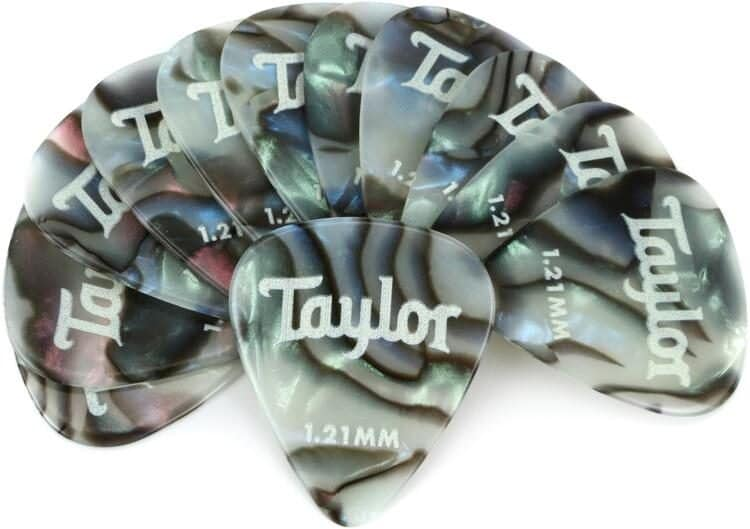 Taylor Celluloid 351 Picks, Abalone 1,21mm, 12-pack