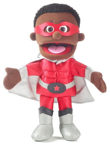 Handdocka - Superhjälte - Pojke - Färgad - 40 cm