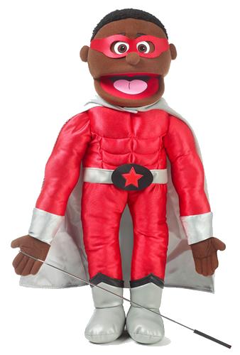 Handdocka - Superhjälte - Pojke - Färgad - 65 cm