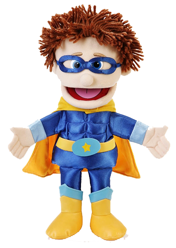 Handdocka - Superhjälte - Pojke - 40 cm