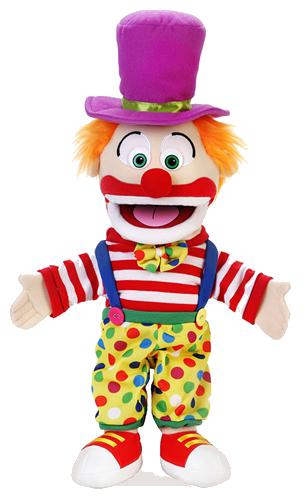 Handdocka - Clown - 40 cm