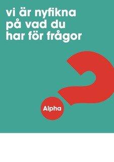Alpha - Affisch - A3 - Turkos