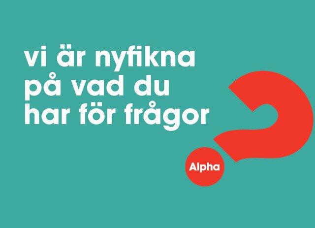 Alpha - Inbjudan - Turkos - 50-pack