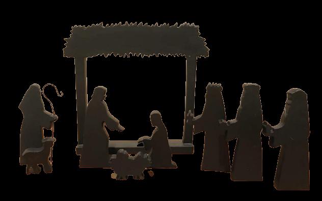 Julkrubba - Himlasänd - Silhuett - 9 cm
