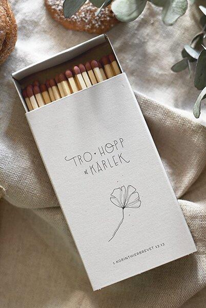 Tändsticksask stor - Tro, hopp & kärlek