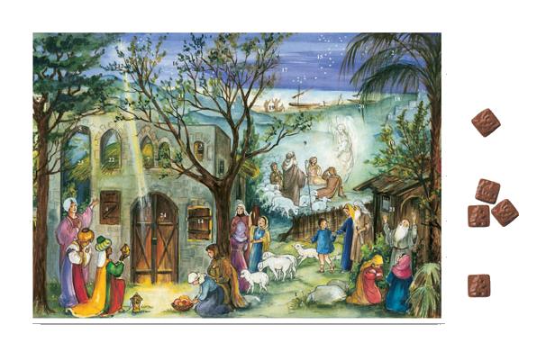 Chokladkalender - Julkrubba