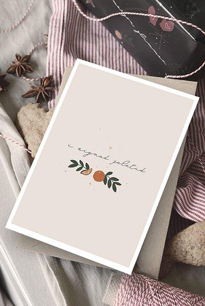 Kort - I signad juletid - Dubbelt med kuvert