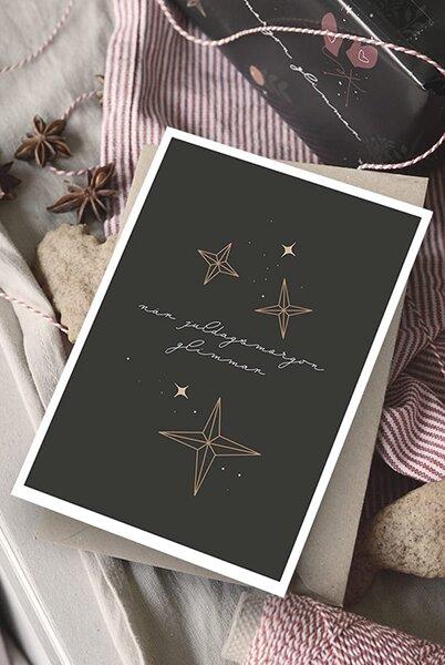 Kort - När juldagsmorgon glimmar - Dubbelt med kuvert