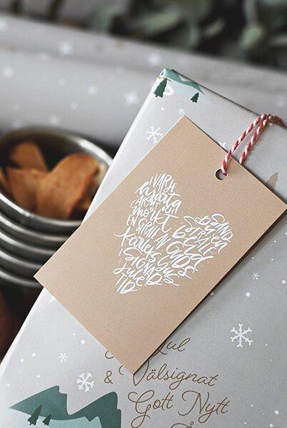 Juletikett - I varje hjärta armt och mörkt - 10-p