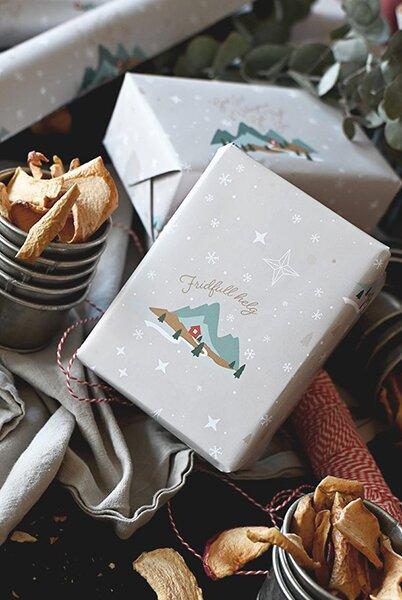 Julpapper - Fridfull jul - 10 ark
